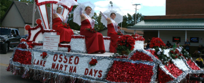 Miss Osseo on float